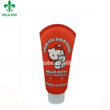 Embalaje plástico cosmético rojo del tubo de Hello Kitty 100ml