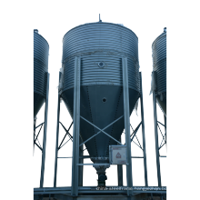 Galvanized steel feed silo automatic feed system for pig farm