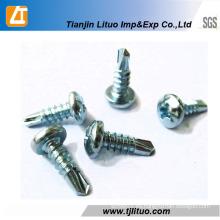DIN7504n Pan Head Self Drilling Screw Zinc Plateado