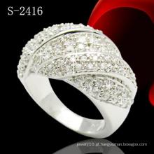 925 prata esterlina micro pave definir anéis (s-2416)