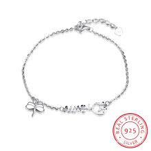 925 Bracelet en Acier Sterling Bijoux en Argent Sterling