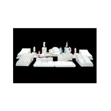 MDF PU White Jewelry Display Stand Showcase Wholesale (WS-TR)