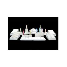 Vitrine branca da mostra do suporte de exposição da jóia do plutônio do MDF (WS-TR)