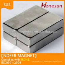 Forme de rectangle aimant ndfeb n42 dans diverses tailles pour la vente