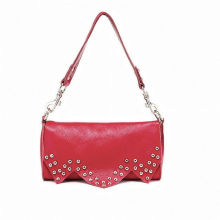 Spring Rose-red Small Cross Shoulder Handbags Travel Bags Elegance With Rivet