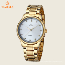 Herrenuhr Edelstahl Uhr Gold Case Uhr 72415