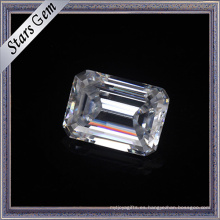10X14mm Emerald Cut Forever One Brilliant Cut Moissanite para joyería de moda
