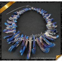 Perles d'agate percées, perles de perles Drigoy Quartz (YAD018)