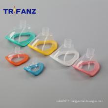 Masque facial d'anesthésie jetable médical de divers types