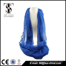 Fashion blue Circle Infinity Loop Eternity Endless Casual Scarf New