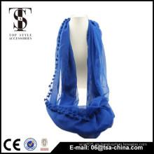 Moda azul Círculo Infinito Loop Eternidad Bufanda informal sin fin Nuevo