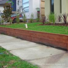 afligido antideslizante Merbau madera dura cubierta de jardín color marrón