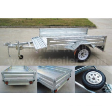 Vuelco trailer caja caliente sumergido galvanizado