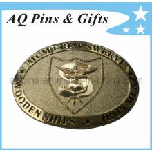 Boucle de courroie militaire en laiton en laiton de haute qualité avec pin backing (boucle de ceinture-006)