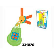 2016 chave de bateria de brinquedo de plástico com música e luz (331826)