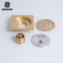 Bronze bathroom brass shower 100mm floor drain trap