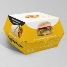 Recipiente para comida Fast Food Packaging Burger / Sandwich