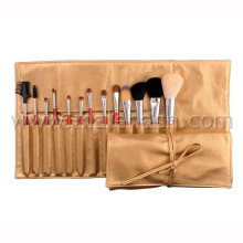 13PCS Copper Ferrule Makeup Brush Cosmetic Brush with Cosmetic Bag