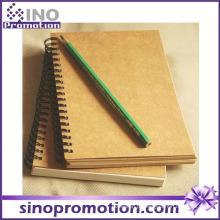 Caderno barato do papel de embalagem de venda quente da capa dura