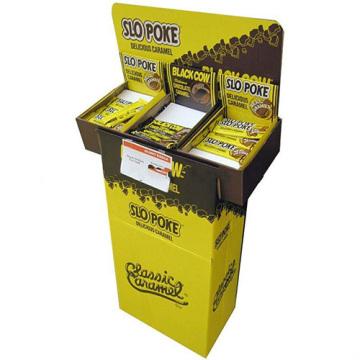 Exhibición de la caja de cartón, exhibición de la publicidad para los libros