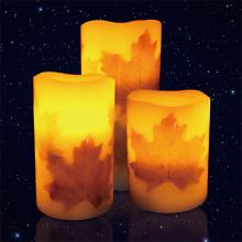 Velas de cera de parafina Material LED