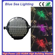 GuangZhou 100pcs x 10W cor giratória ao ar livre levou luz