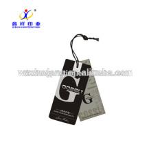Толстый бумажный hangtag высечки высокое качество бумаги бирка пользовательские имя тега для одежды
