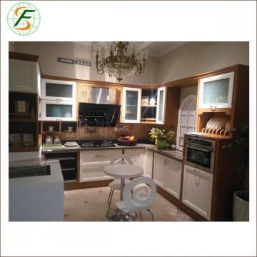Lacquer Solid Wood Kitchen Furniture