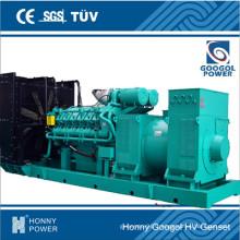 11100kw / 1375kVA 50Hz 1000rpm Générateur de vitesse moyenne (HGM1500)