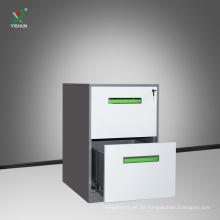 hochwertige Büromöbel Metall 2 Schublade Aktenschrank