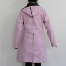 Розовый сплошной водонепроницаемый пу с капюшоном плащи