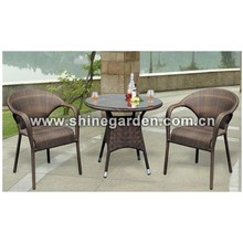 Gartenmöbel 3 Stück Patio Wicker Dining Set