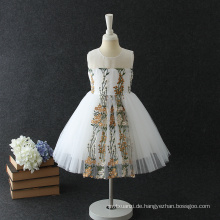Neue Design Handarbeit Blumen Festival Mädchen Prinzessin Kleider für Kinder