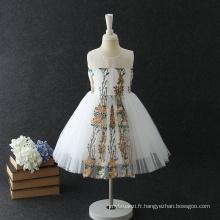 Nouveau design handwork flower festival fille robes de princesse pour les enfants