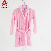 Fabrik produzieren 100% Polyester hochwertige Flanell Fleece Bademantel für Kinder