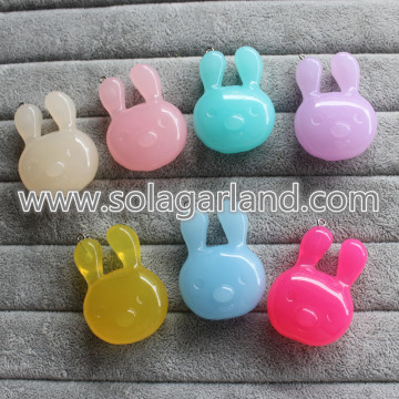 34 * 36MM acryl Translucence mooie Rabbit Pendants Charms