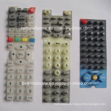 Teclado de control remoto de goma de silicona duradera