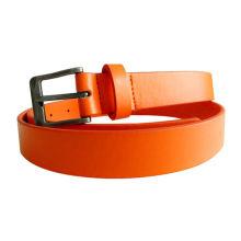 2014 stylish wide plain metal leather sash belt fashionable