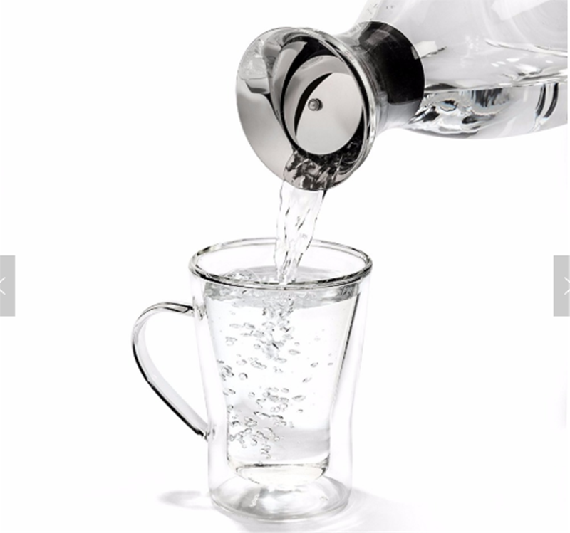 Borosilicate Water Pitcher Jug Infuser - Hot and Iced Tea Juice Beverage - Decanting and Serving Wine