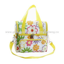Children 6can Lunch Bag, Made of Polyester + Printed Cloth