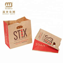 Sacos de portador cortados finos feitos sob encomenda pequenos feitos sob encomenda do papel de embalagem do furo do preço de fábrica
