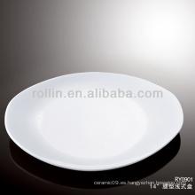 Horno de porcelana blanca fina caja fuerte vajilla del hotel