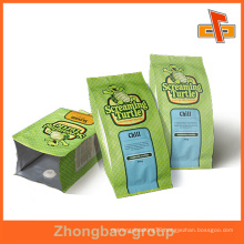colourful printing side seal bag for packing 1 kg food