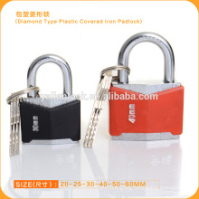 Diamond Type Plastic Covered Iron Padlock