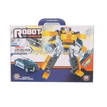 Yellow&black&silver educational toys building blocks robot