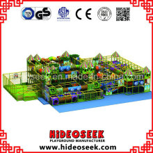 Équipement doux de terrain de jeu de centre de récréation de style de la jungle pour des enfants