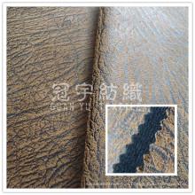 Tela de imitação de couro do sofá com escovado para trás