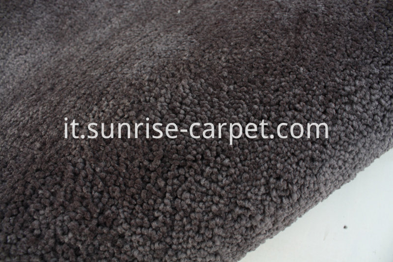 Elastic Polyester Shaggy Rug Grey color