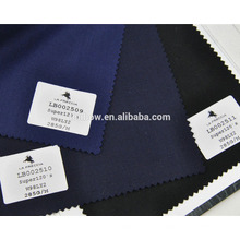 High end light lycra wool navy and black suit fabric for stock service