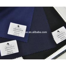 Marinha de lã de lycra luz high-end e tecido terno preto para serviço de estoque
